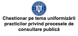 Chestionar uniformizare consultarea publica