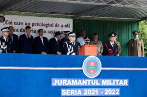 299 de tineri au depus Jurământul Militar, alegând cariera de pompieri salvatori